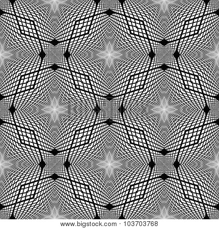 Design Seamless Monochrome Grid Background.
