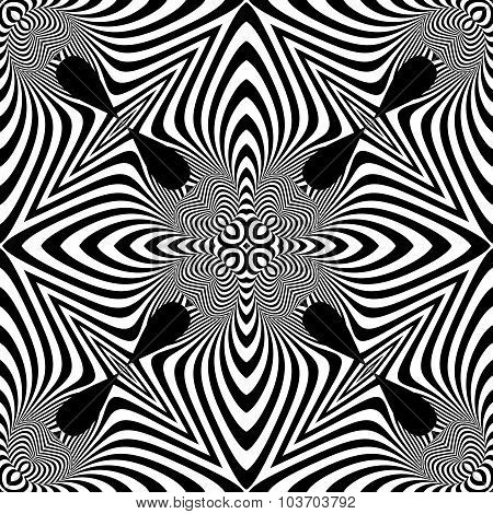 Design Seamless Monochrome Illusion Pattern