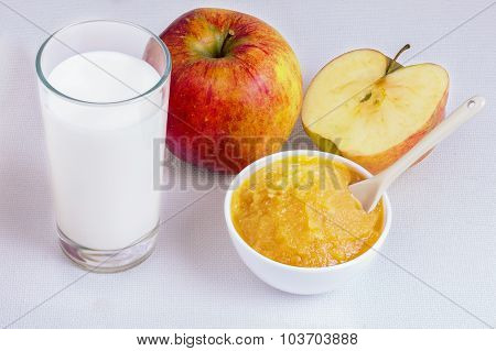 Applesauce , Milk