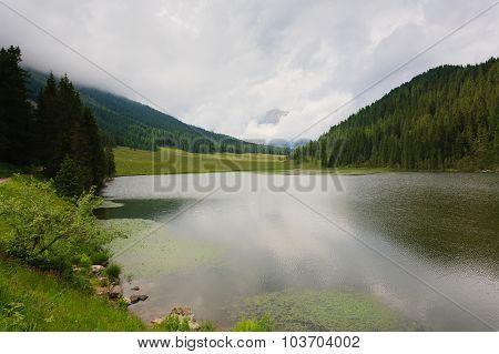Cloudy Lake Panorama