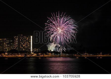 Waikiki Fireworks Display