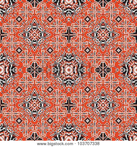 Traditional national embroidered seamless pattern. Abstract vector texture