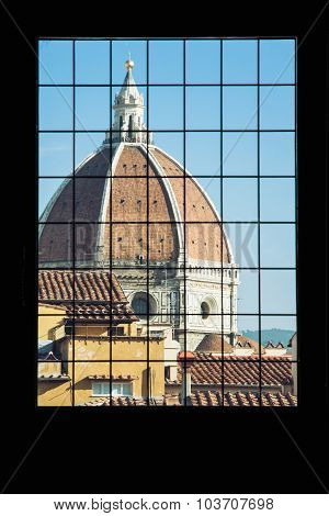 Cattedrale Di Santa Maria Del Fiore Behind The Window, Florence