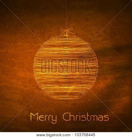Merry Christmas ball typography illustration easy editable