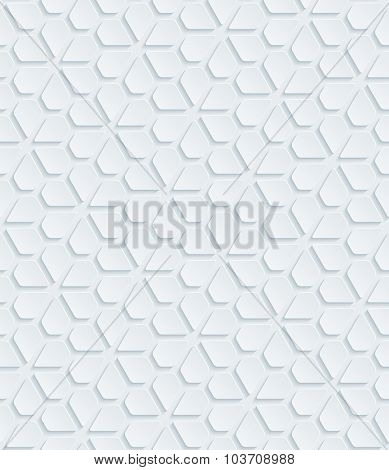 White perforated paper with cut out effect. Abstract 3d seamless background.