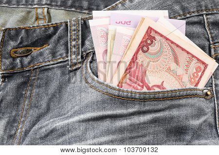 Banknote In A Jeans Pocket