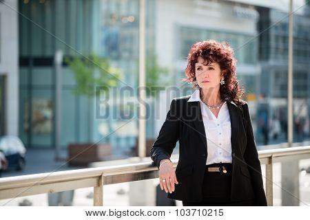 Business woman in street