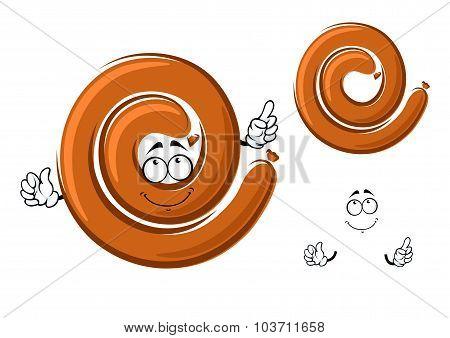 Cartoon ring of spicy pork sausage