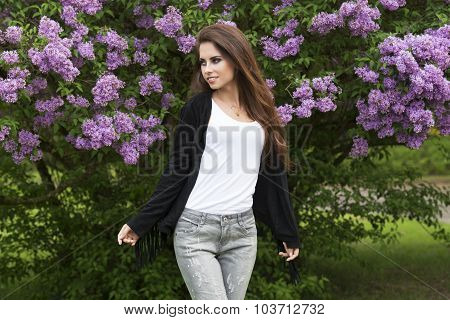 Cute Girl In Outside Fashion Shoot