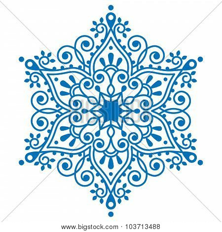 Christmas snowflake design, winter embroidery