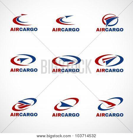 Air Plane Transportation cargo or shipping logo business vector