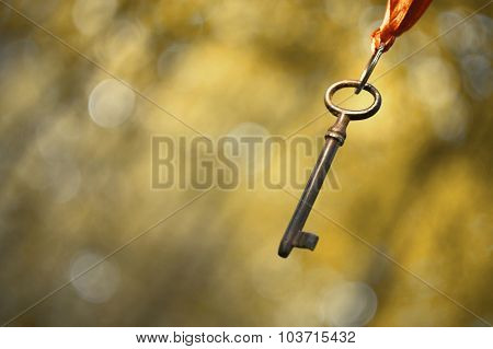 Hanging Old Key
