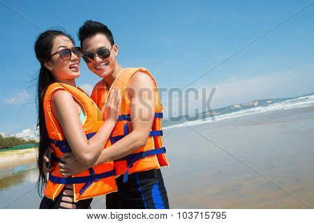 Couple In Life Vests