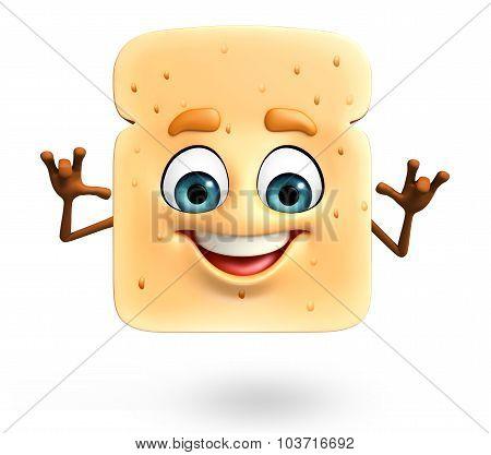 Cartoon Character Of Bread