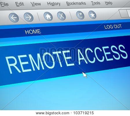 Remote Access Concept.