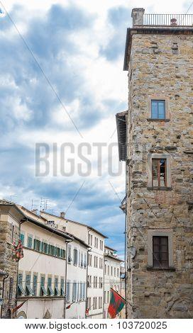 Windows In The Historic Center Of Arezzo