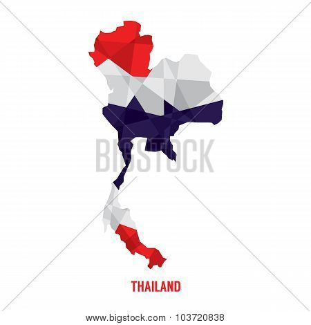 Map Of Thailand Vector Illustration.