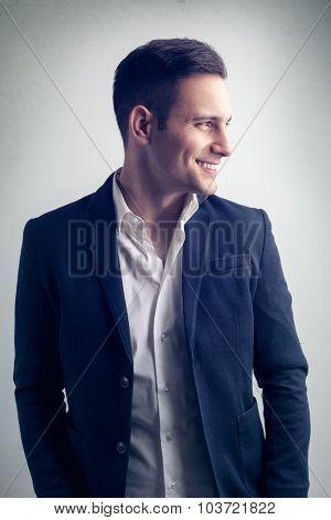 Good looking modern young fashion man