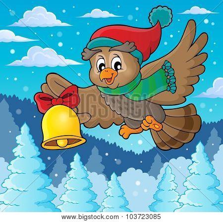 Christmas owl theme image 3 - eps10 vector illustration.