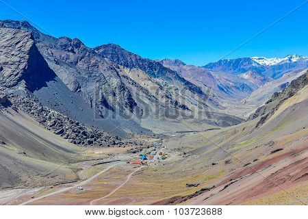Valley In The Andes Around Mendoza, Argentina