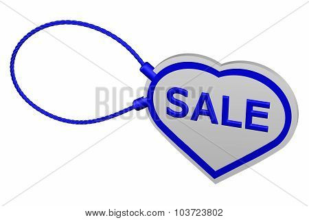 Heart Tag With Word Sale