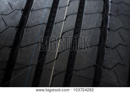 black summer tires close up