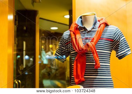 Striped vest and life-buoy