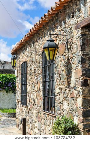 Window With Lantern, Colonia Del Sacramento, Uruguay