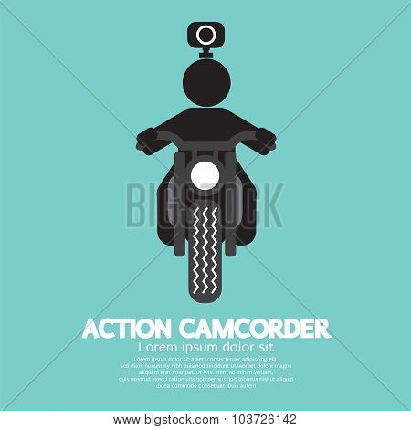 Action Camcorder Symbol Vector Illustration.