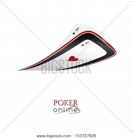 Poker Online - Logo For Poker Club Or Online Casino