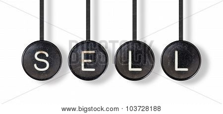 Typewriter Buttons, Isolated - Sell
