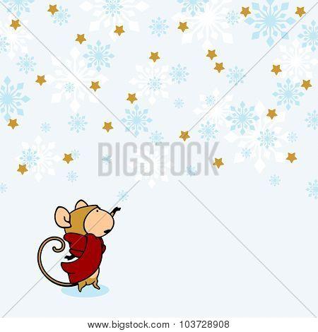 Little Monkey under a snow