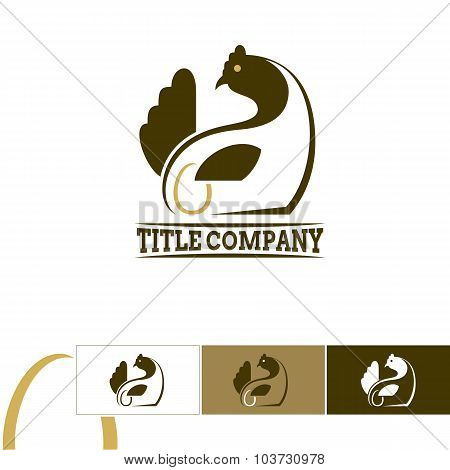 Chicken Emblem - Logo For Chicken Farm Or Market