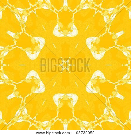 Seamless floral pattern yellow orange white