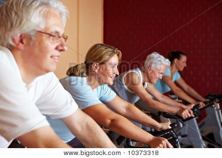 Fitness Class On Bikes