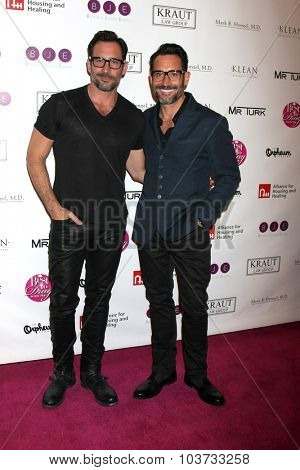 LOS ANGELES - OCT 4:  Lawrence Zarian, Gregory Zarian at the Best In Drag Show at the Orpheum Theatre on October 4, 2015 in Los Angeles, CA