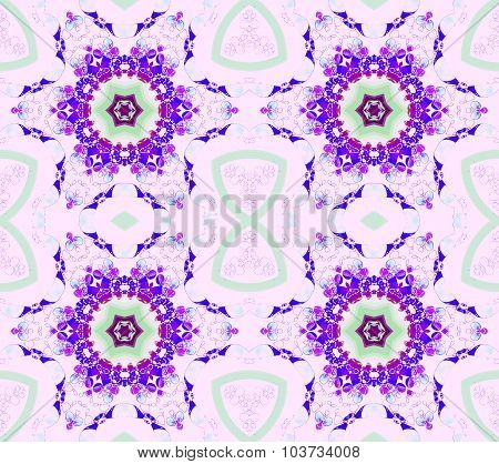 Seamless floral pattern purple pink