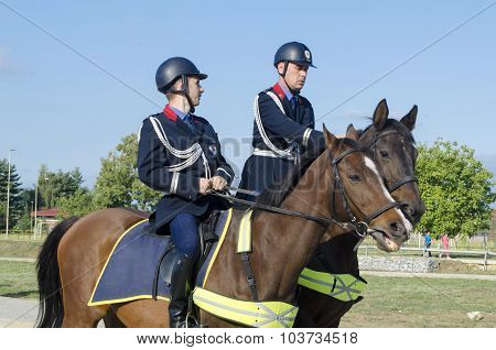 Mounted Police Officers