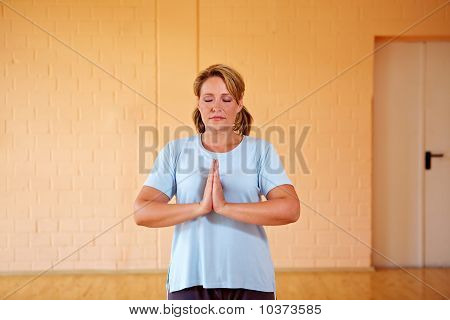 Woman Doing Relaxation Exercises