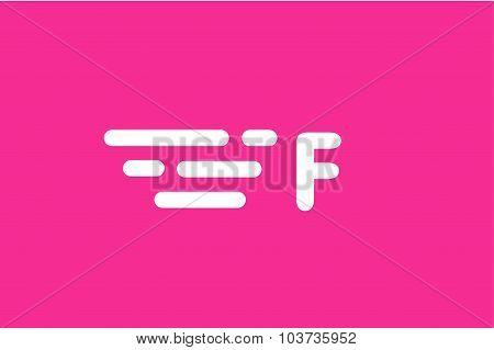 Fast line vector letter logo monogram