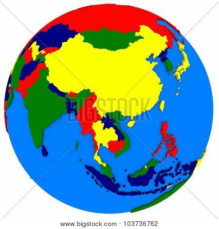 Southeast Asia On Political Map