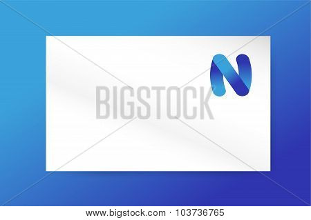 N letter vector logo icon monogram business card
