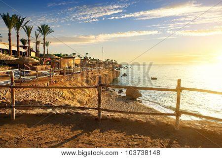 Beach in hotel