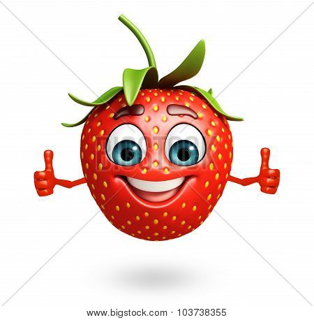 Cartoon Character Of Strawberry