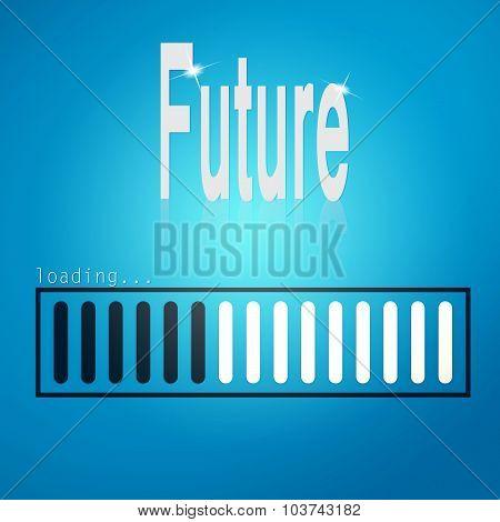 Future Blue Loading Bar
