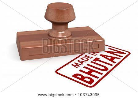 Wooden Stamp Made In Bhutan