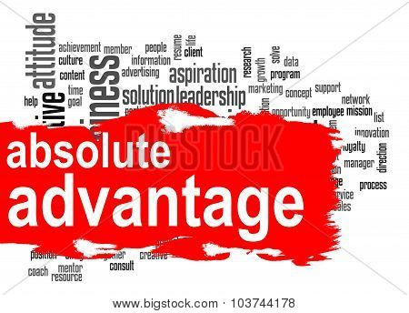 Absolute Advantage Word Cloud With Red Banner