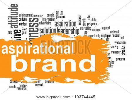 Aspirational Brand Cloud With Orange Banner