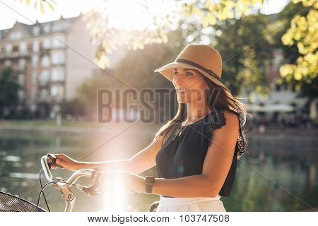 20-30 Years; Attractive Female; Beautiful; Bicycle; Bike; Bright