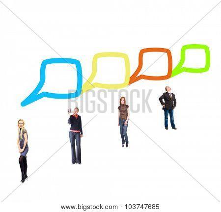 Speech Bubbles Business Picture